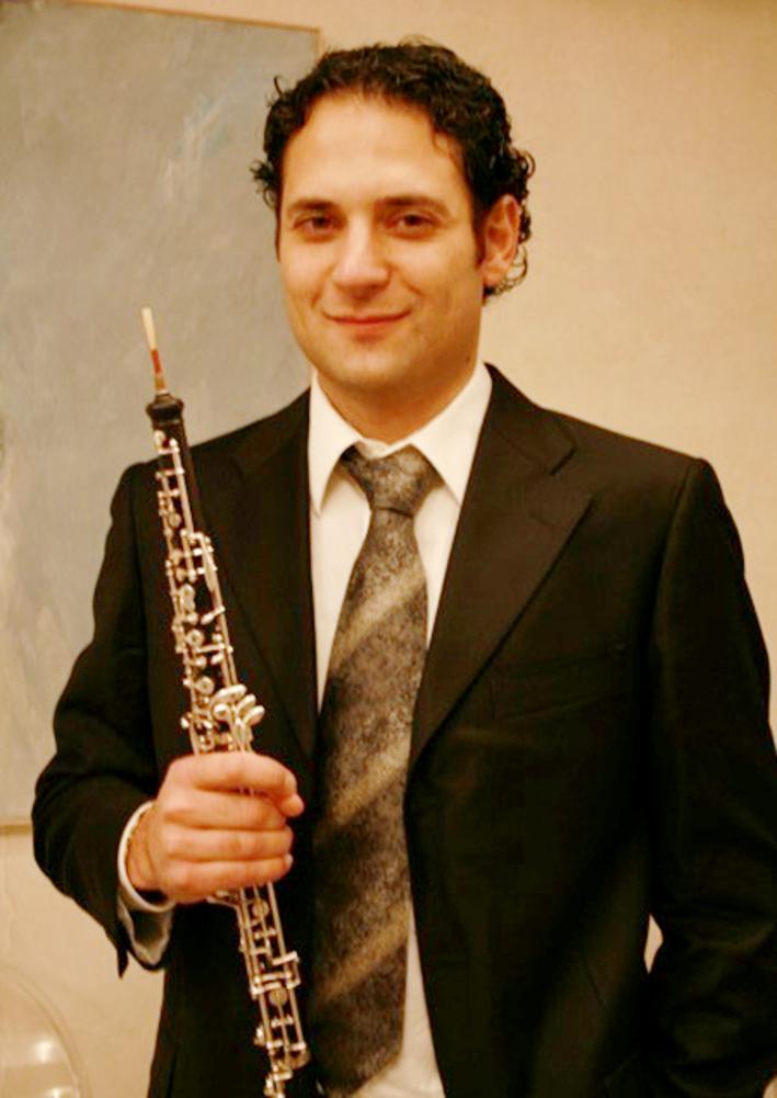 Remarquable musicien Davide Guerrieri est hautbois solo dans plusieurs phalanges italiennes